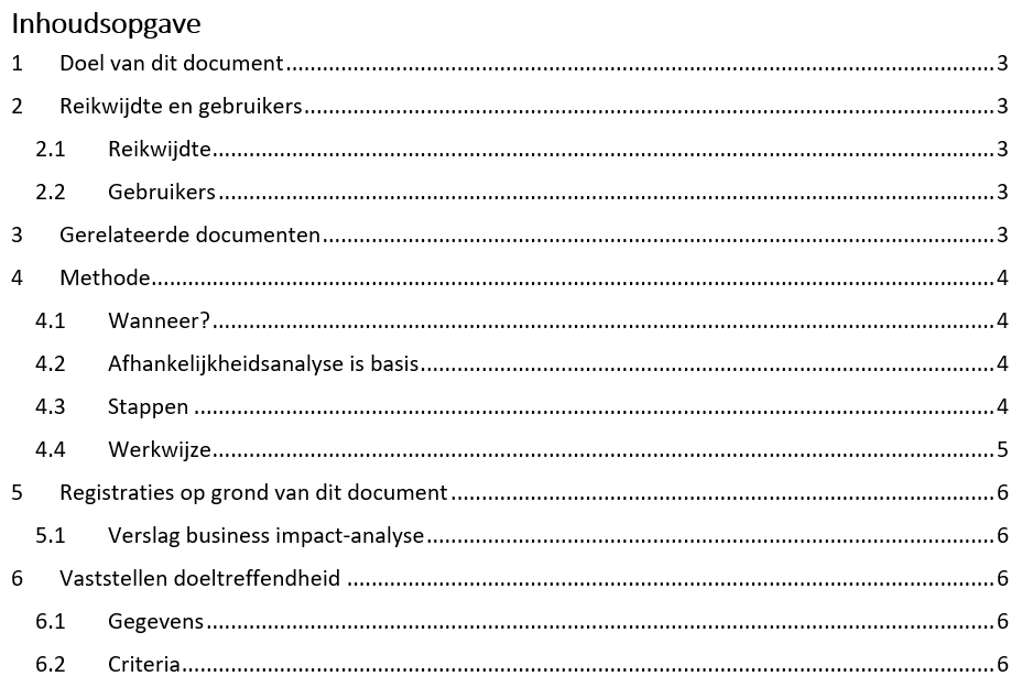 D06: Methode business impact analyse